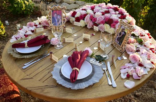 Romantic setup decoration